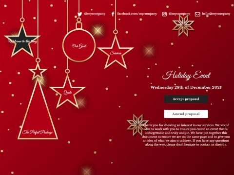 Christmas Theme Proposal