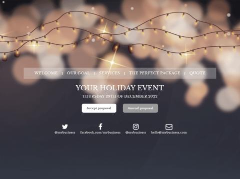 Christmas Holiday Theme Proposal